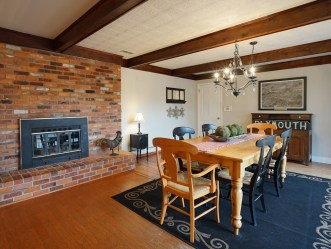 Breakfast Area with Fireplace