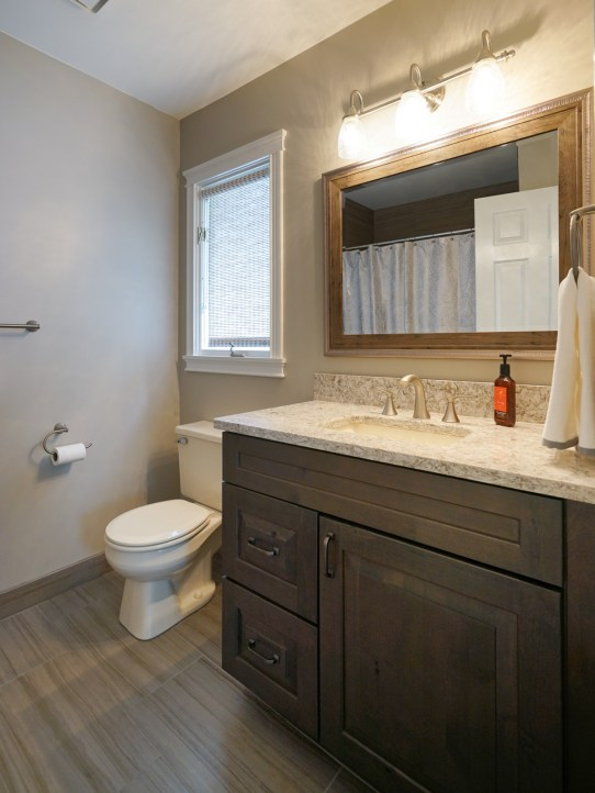 Guest Suite Bath Updated 2017, Quartz Countertop