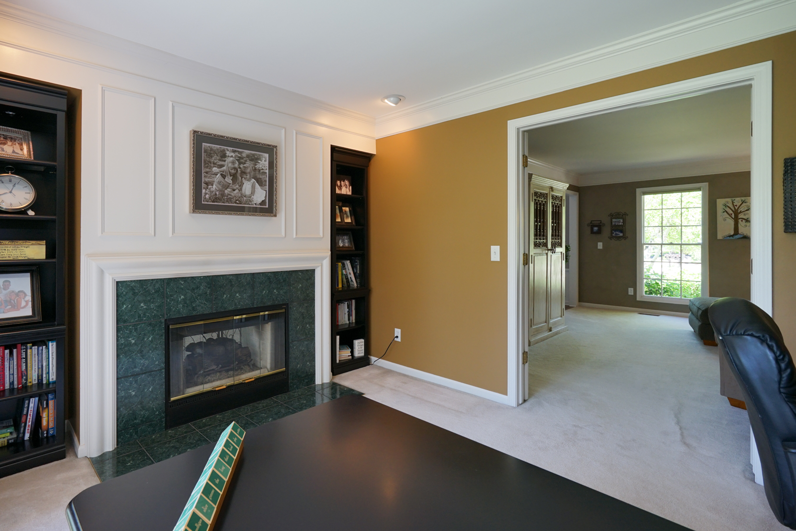 Office and Fireplace