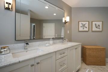 Carrara Marble Master Bathroom
