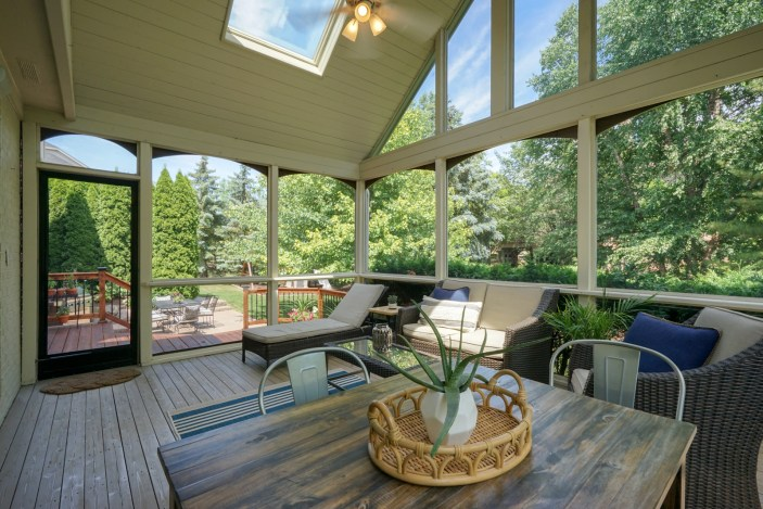 Dramatic Screened-in Porch