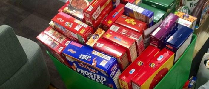 groceries in bin