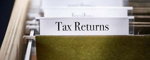 tax return folder