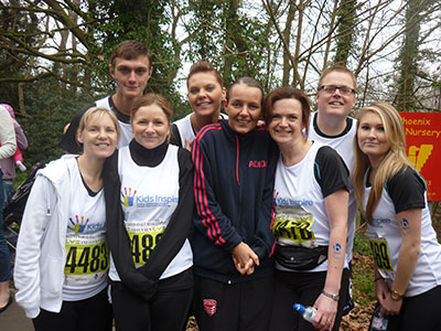 Bakers team runners in the Brentwood Half marathon