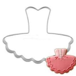 Cookie Cutter Metal Ballet Dress Cookie Cutter