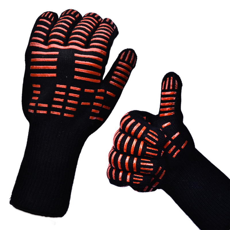 Oven-Mitts-Gloves-BBQ-Grilling-Cooking-Gloves-Extreme-Heat-Resistant-Gloves-Long-for-Extra-Forearm-Protection-1 Image Gallery