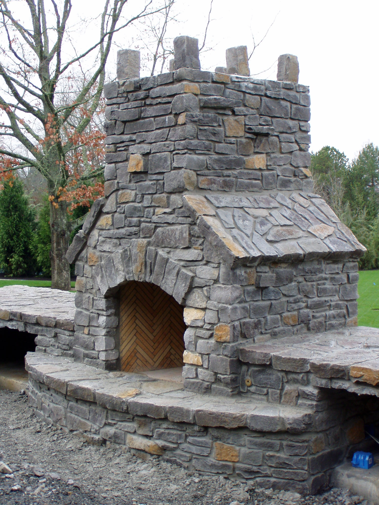 Stone Outdoor Fireplaces | Brick Outdoor Fireplaces ... on Simple Outdoor Brick Fireplace id=69230