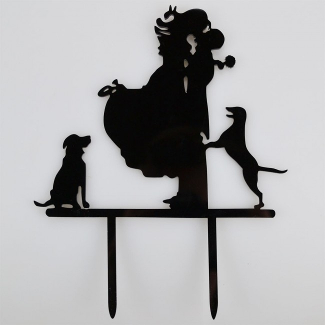 Mr Amp Mrs Dogs Acrylic Wedding Day Cake Topper Silhouette