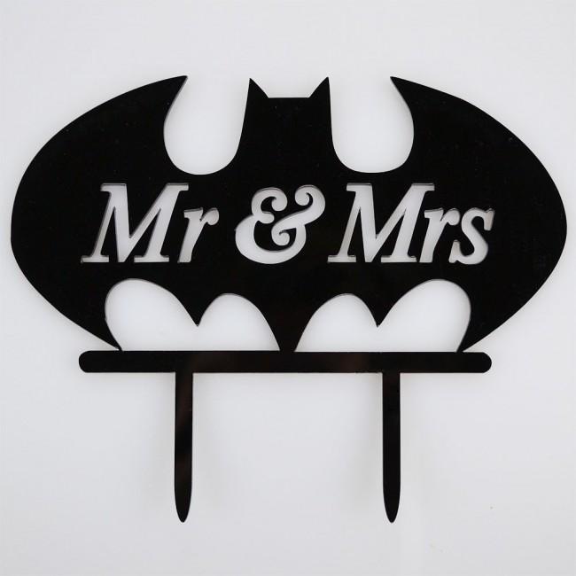 Mr Amp Mrs Batman Acrylic Wedding Birthday Day Cake Topper