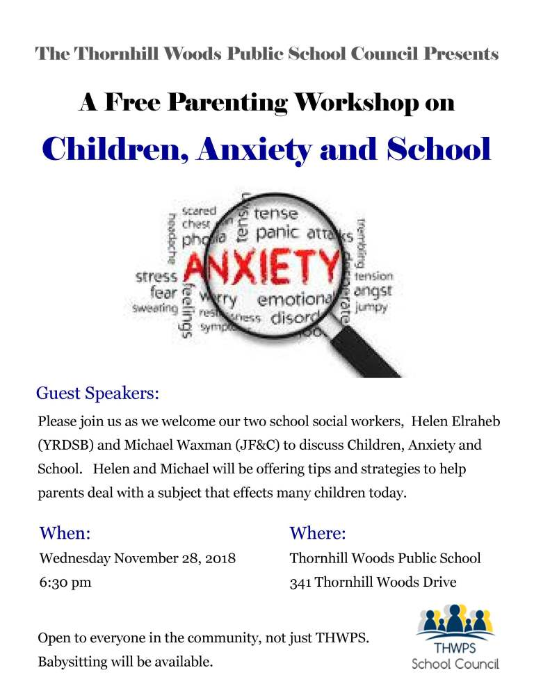 Parenting Workshop - Children Anxiety and School