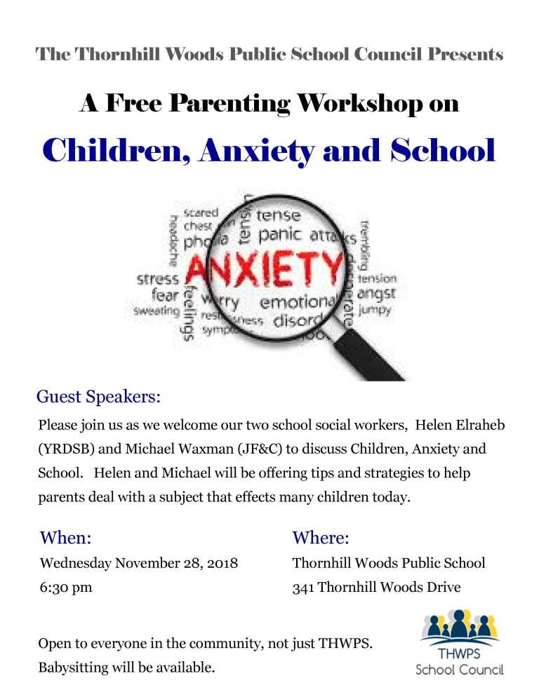 Parenting Workshop - Children Anxiety and School