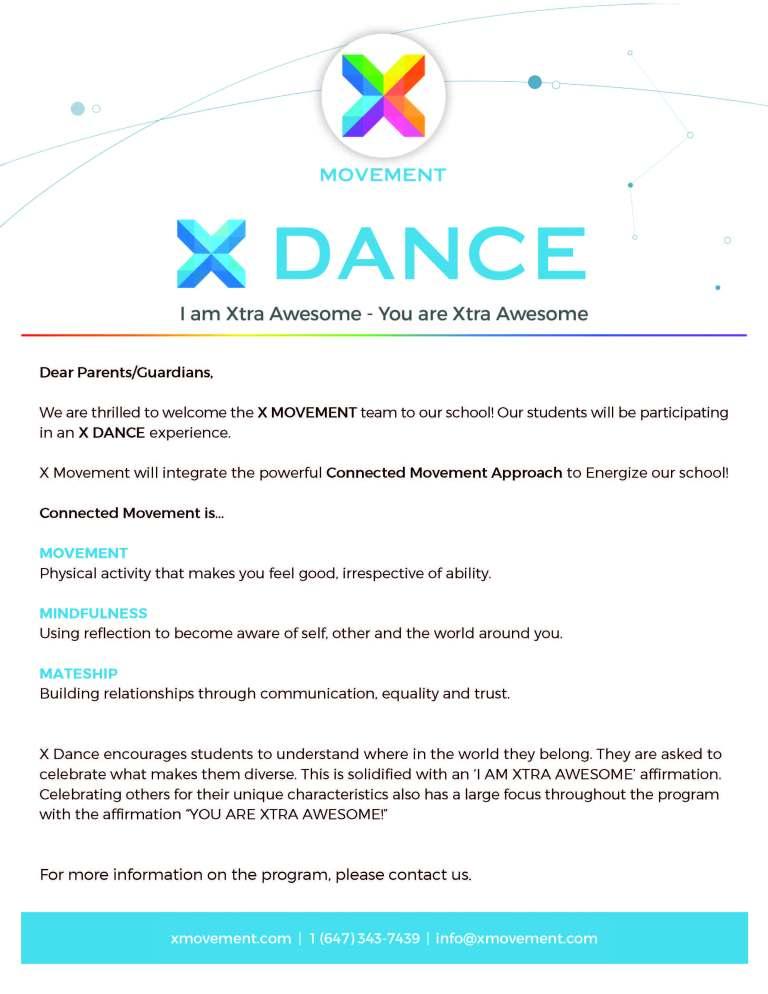 X Dance Parent Briefing Sheet