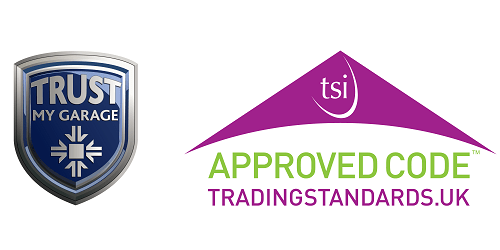 Trust my garage and trading standards logos