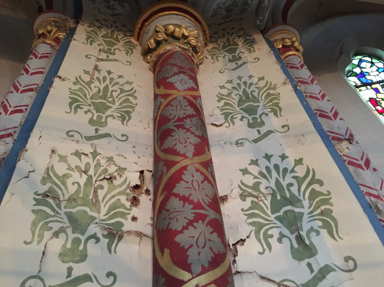 specialist church refurbishment maintenance and decorating contractors stencil detail gold leaf