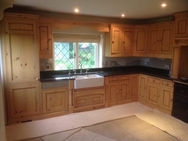 Before - Kitchen cabinet preparation and painting in Froxfield near Petersfield Hampshire