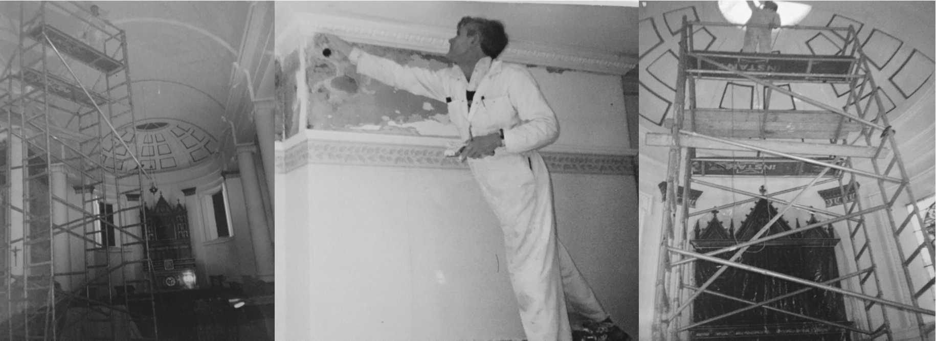 Pictures of John Baker decorator of Baker Southern Ltd including the decorating Holy Trinity Church Gosport of