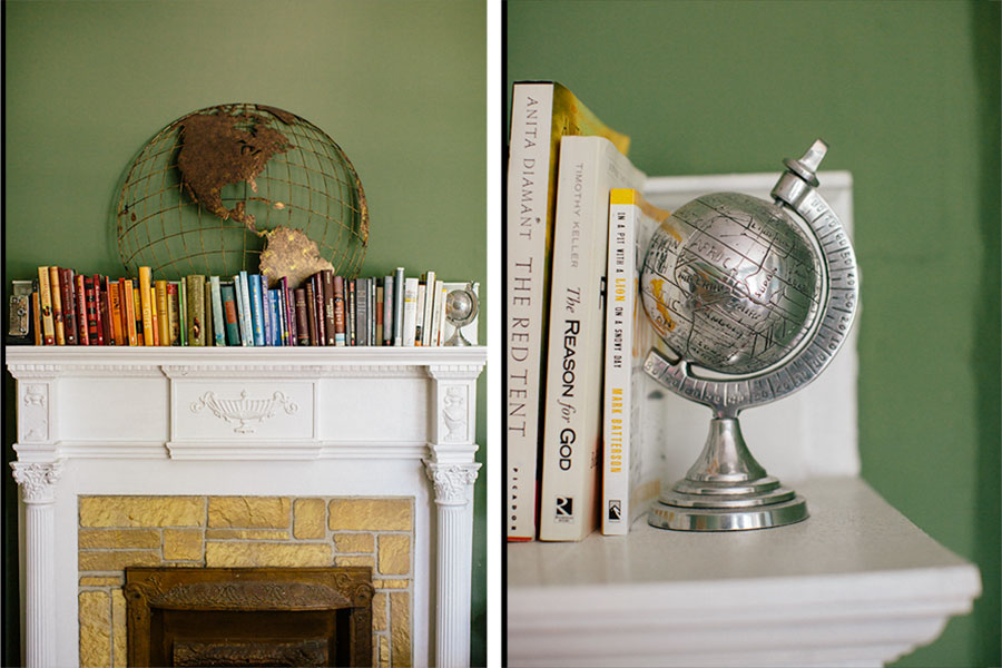 mantle-decor-color-arranged-books-5 Color Arranged Books as Mantle Decor Home & Design Our Life