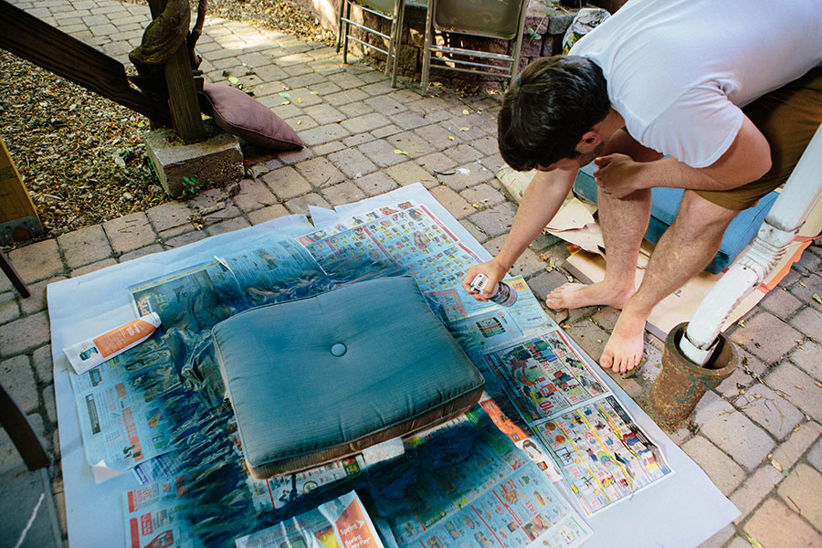 Patio-Makeover-Fabric-Spray-Paint-4 Patio Makeover with Fabric Spray Paint Home & Design Our Life