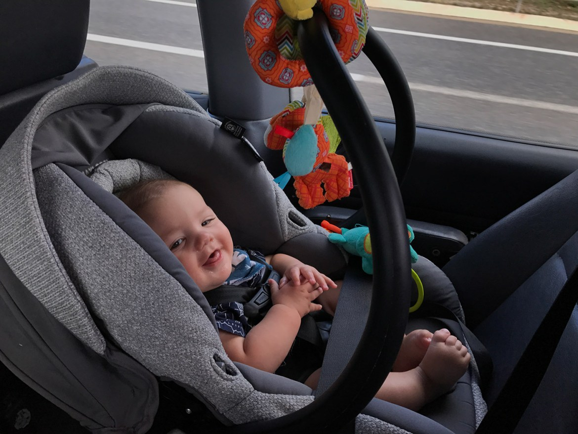carseat-toys 10 Must Have Items for Your 3 to 6 Month Old Baby Feature Our Family Our Life