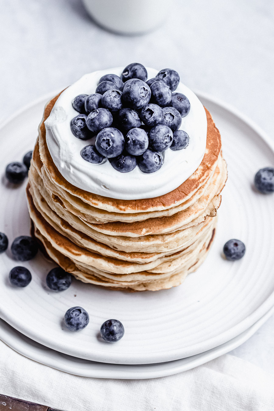 stack of sour cream pancakes