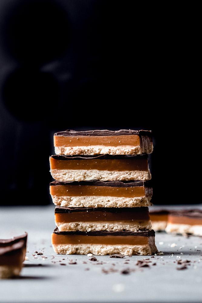 stack of millionaire shortbread