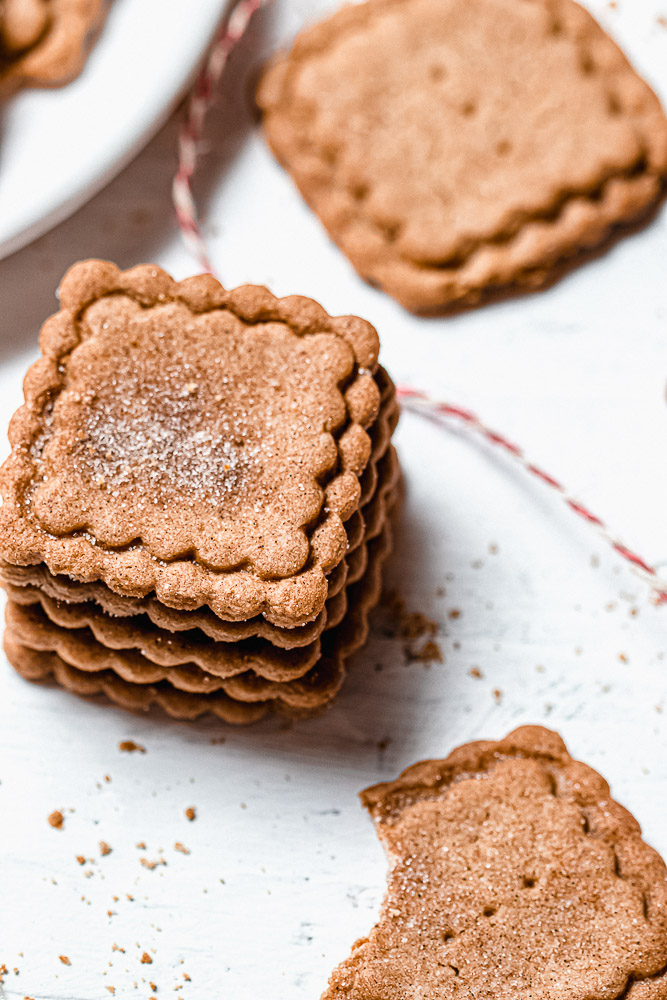 speculaas cookies on a white background