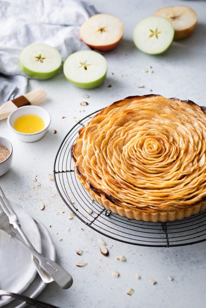 french apple tart with frangipane
