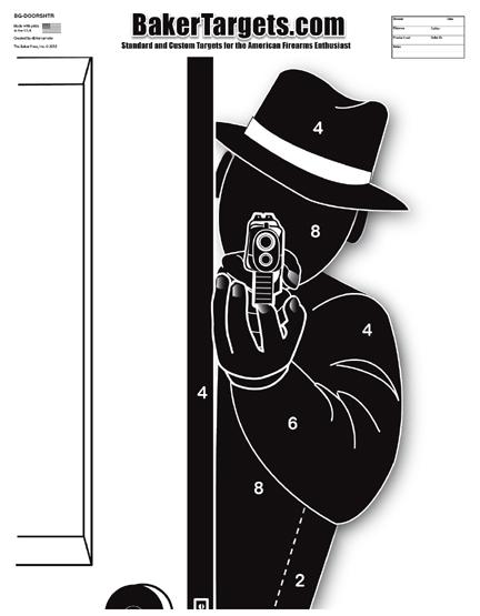door shooter silhouette target
