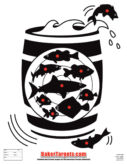 fish in a barrel target
