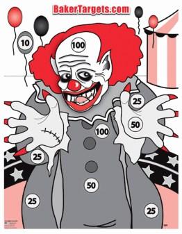 creepy clown target
