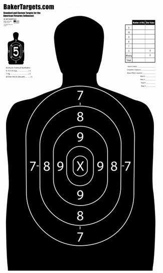 "b27 ""short"" target - black"