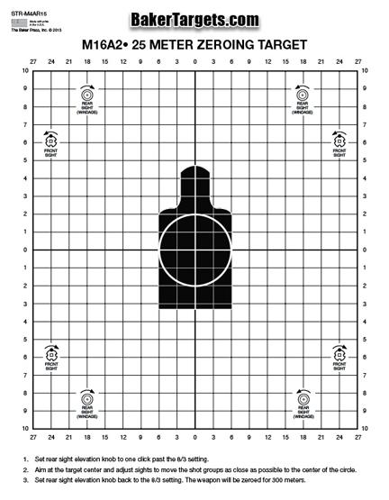 25 meter sighting target - black