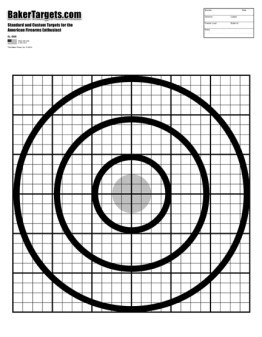 gun sighting bulls eye target