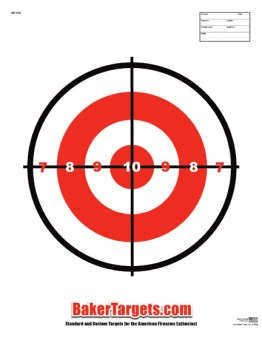 single bulls eye target