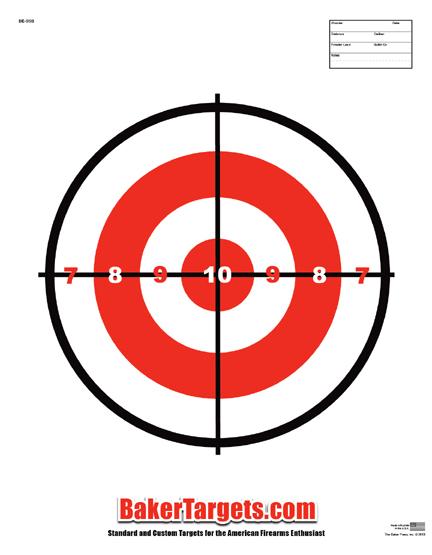 single bulls eye target