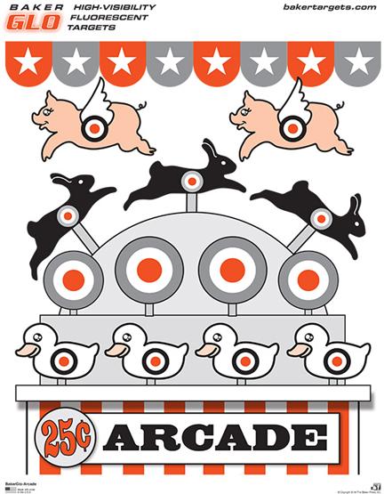 bakerglo arcade target