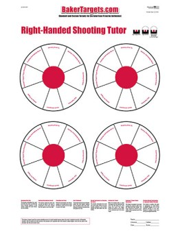 shooting tutor target right-handed