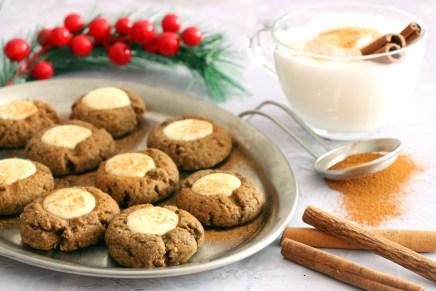 עוגיות ג'ינג'רברד ושוקולד לבן