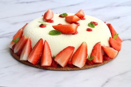 עוגת גבינה, תותים ונענע
