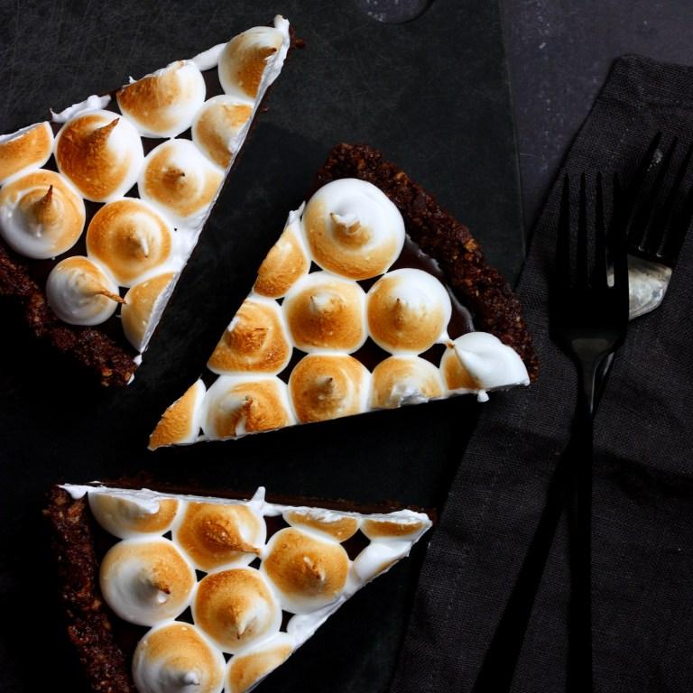 פאי שוקולד, אגוזי לוז ומרנג