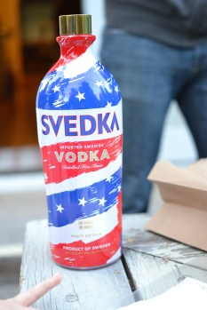 """We had to get the """"party"""" version of Svedka of course!"""