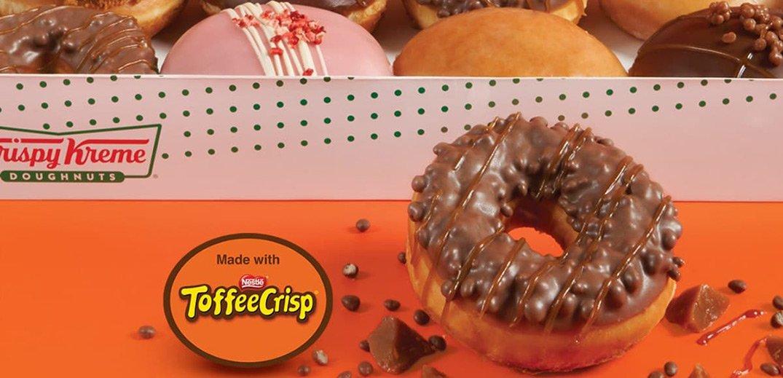 Nestlé and Krispy Kreme team up to create Toffee Krispy