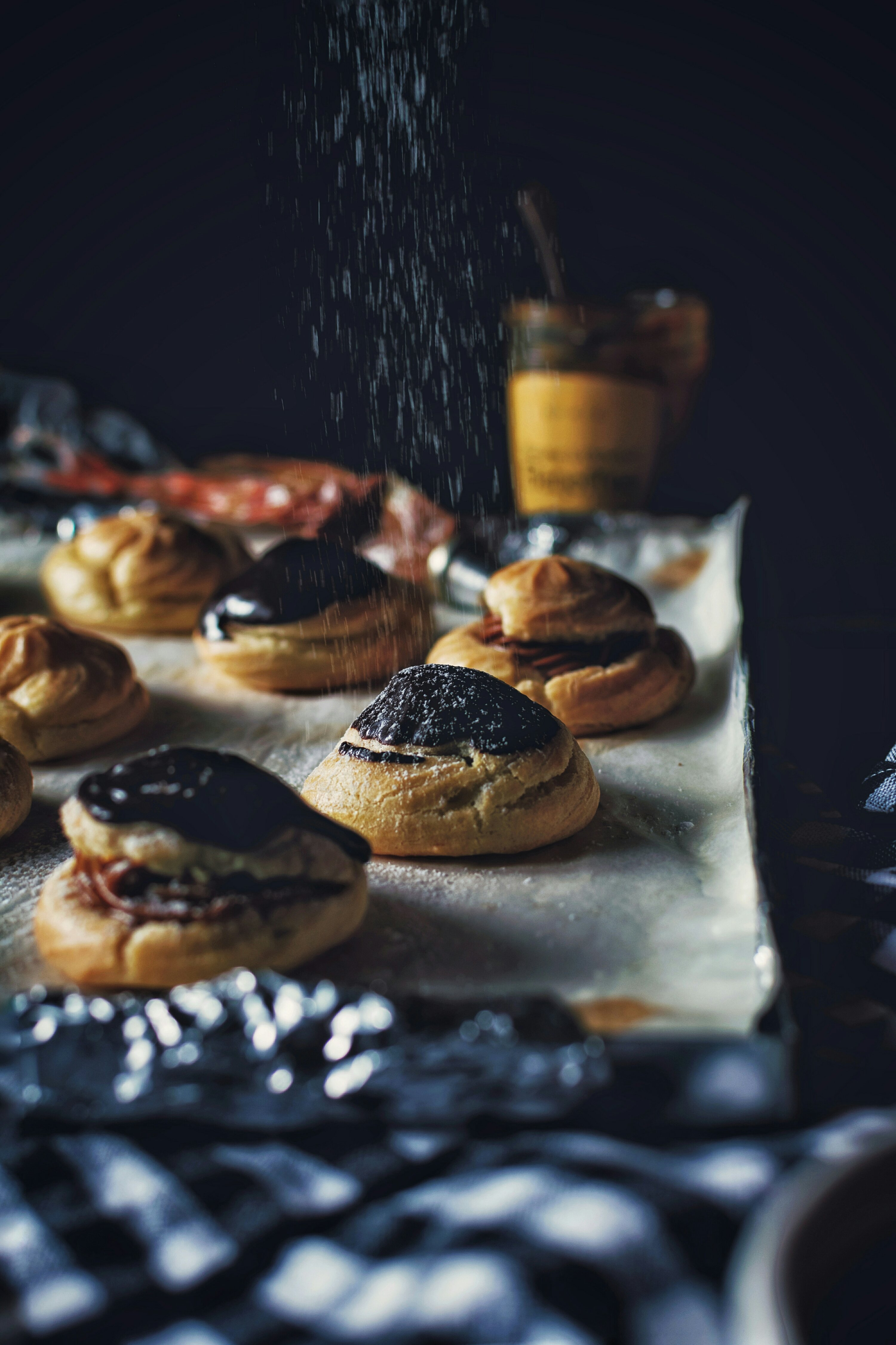 Profiteroles with Banoffee filling