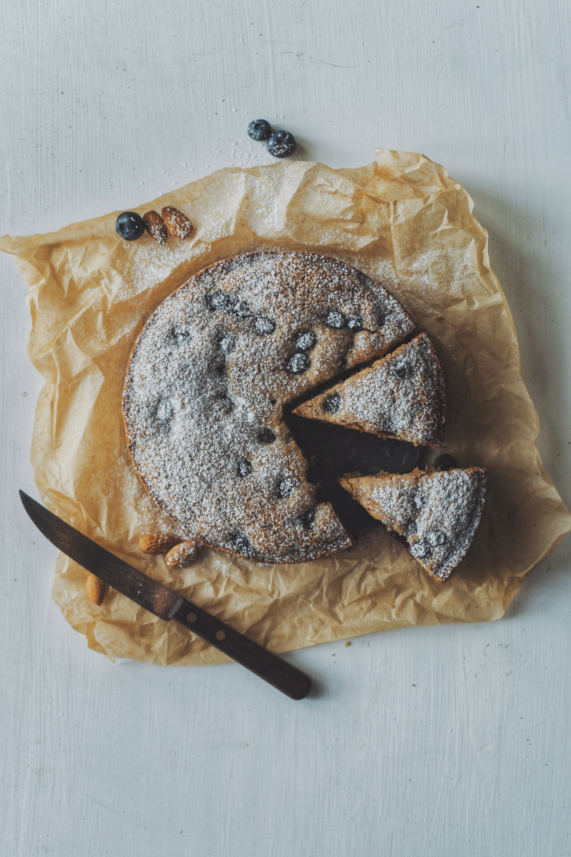 Blueberry and Almond Cake.