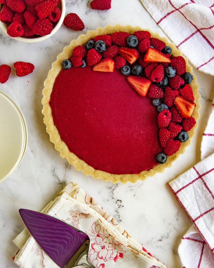 Raspberry Curd Fruit Tart
