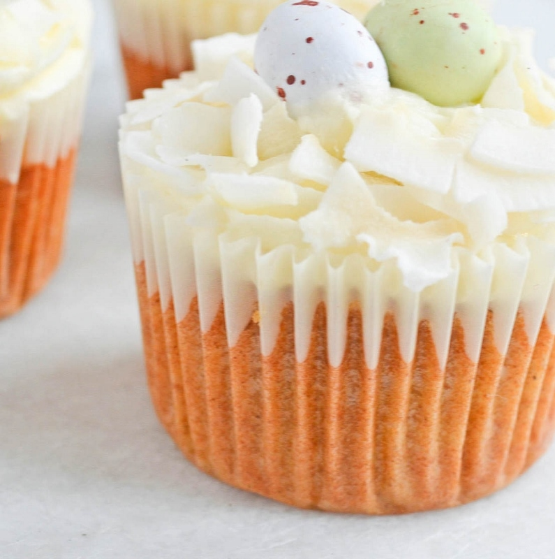 Carrot Nest Cupcakes