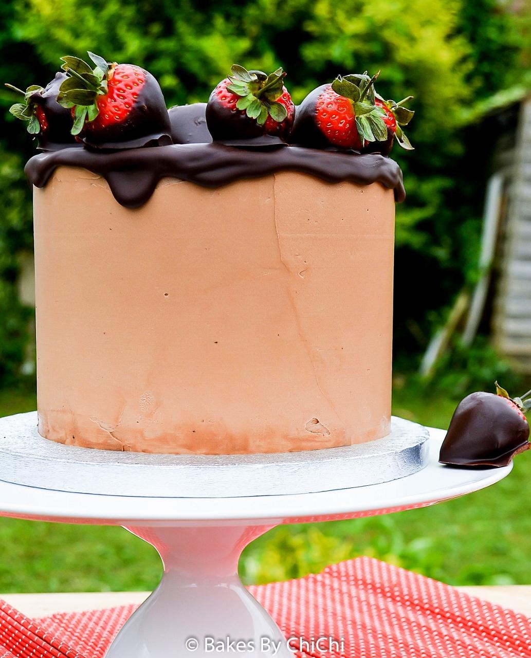 Vanilla and Chocolate Buttermilk Cake