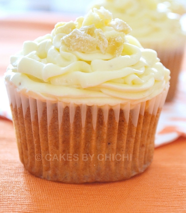 Tropical Cupcake with Ginger Cream Cheese Buttercream