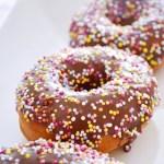 Chocolate Glazed Spiced Cake Doughnuts