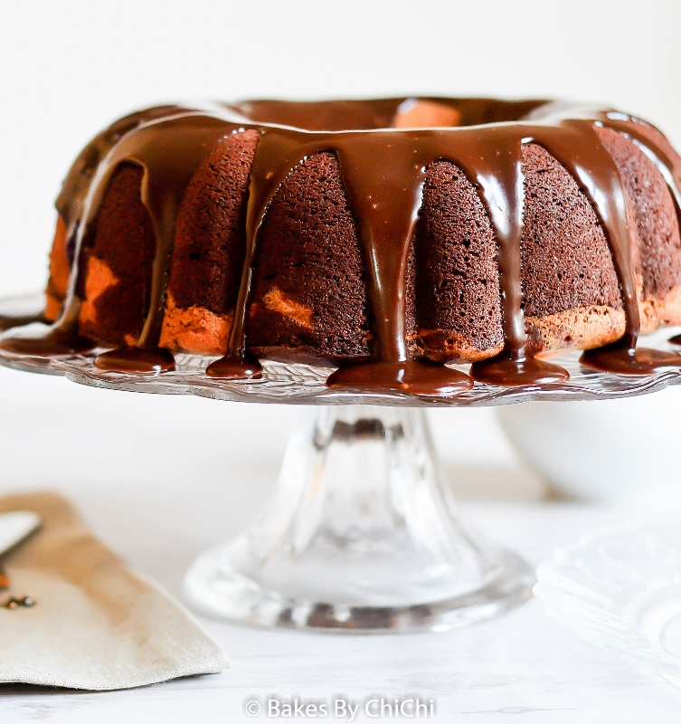 Nutella Marble Bundt with Nutella Ganache
